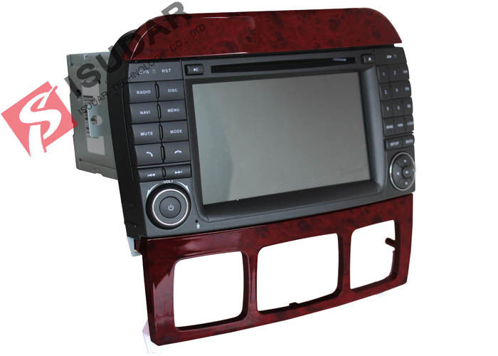 Double Din Mercedes In Car Dvd Players , In Dash Gps Car Stereo With Navigation