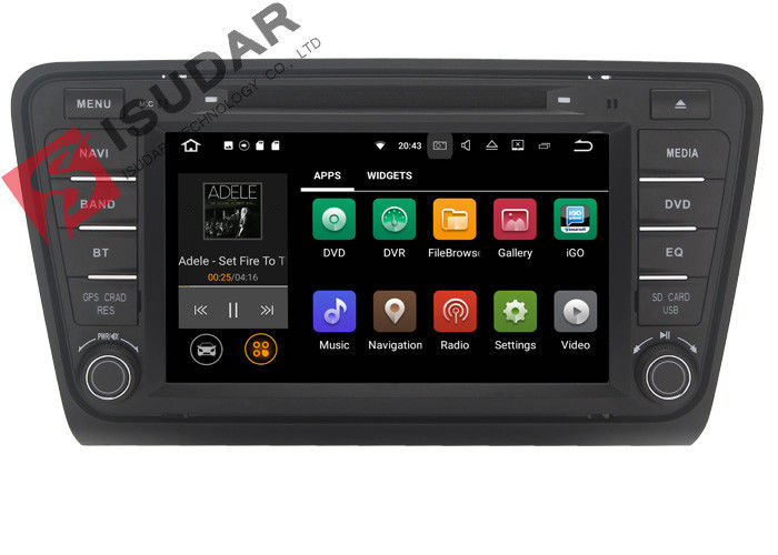 Iphone & Android Car DVD Player Skoda Octavia Head Unit ARM Cortex A9 Quad Core 1.6GHZ
