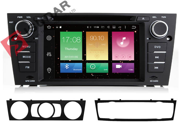 Full RCA Output BMW E91 Sat Nav 2 Din Bluetooth Car Stereo Heat Dissipation